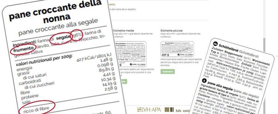 Etichettatura degli alimenti